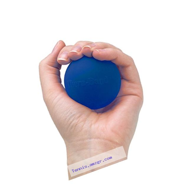 TheraBand Hand Exerciser Squeeze Ball (Blue - Firm, Standard)