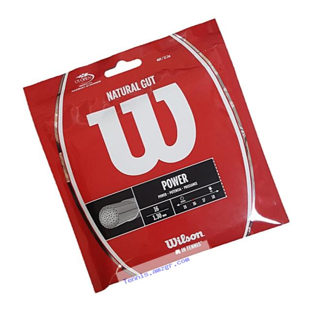 Wilson Sporting Goods 17 Gauge Natural Gut Tennis String